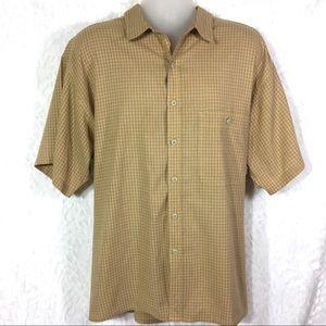 Patagonia Mens XL Checked Short Sleeve Shirt